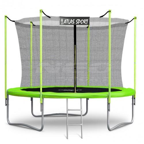 Батут Atlas Sport Green 252 см с внутренней сеткой