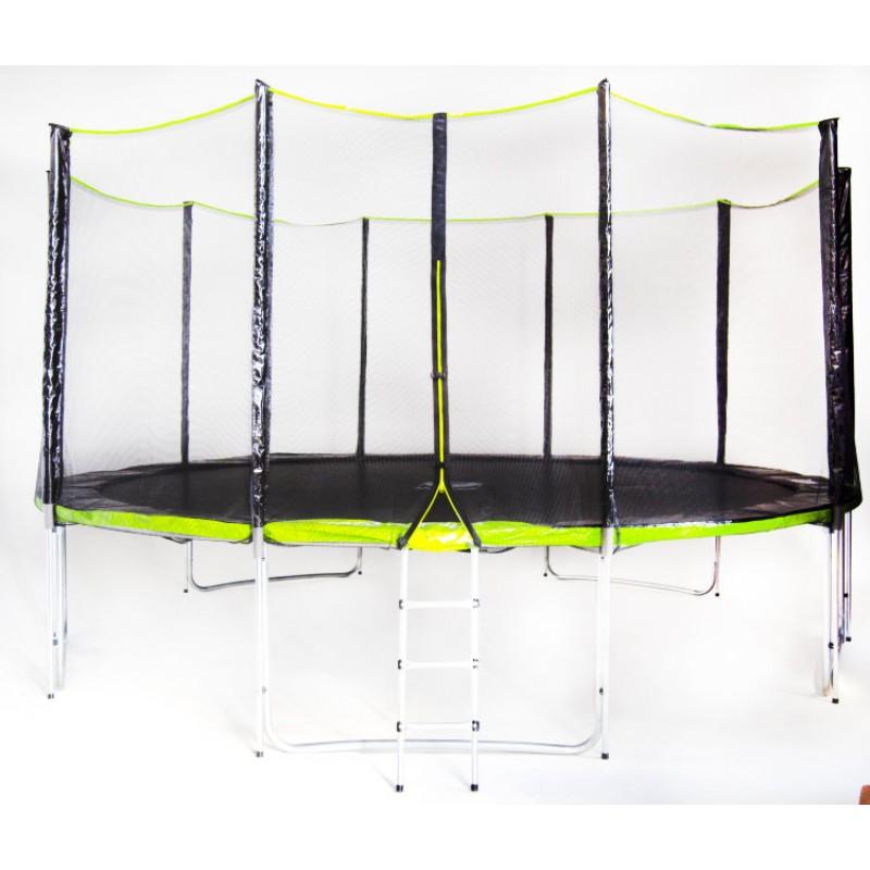 Батут Fitness Trampoline GREEN 16 FT Extreme