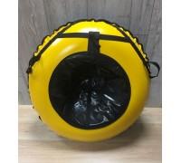 Тюбинг MakPol Желтый с черной серединой D100см