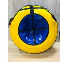 Тюбинг MakPol Желтый с синей серединкой D110см